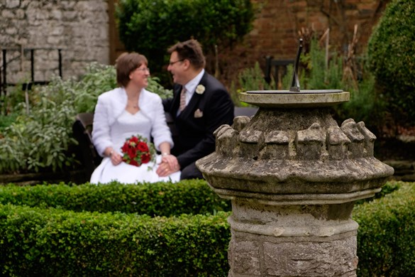 Wedding couple in garden.jpg