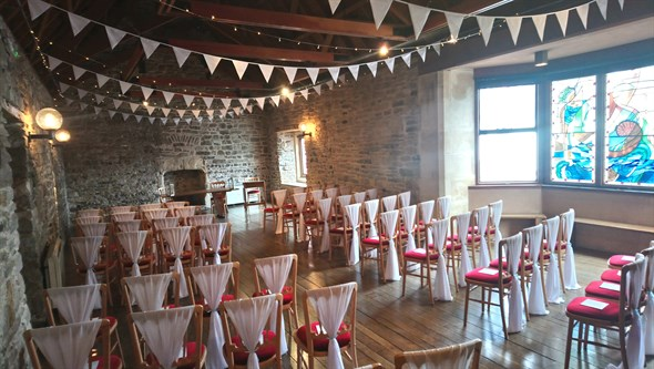 Scaplen's Court Weddings - Ceremony with bunting.JPG